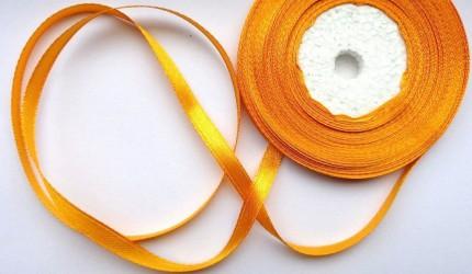 Satininė juostelė  Šviesiai oranžinė (1 m)