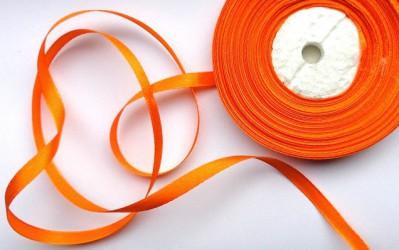 Satininė juostelė  Oranžinė (1 m)