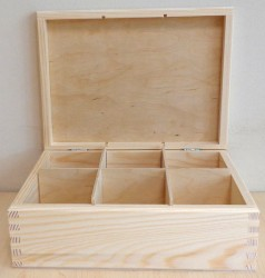 Tea box (6 dividers)
