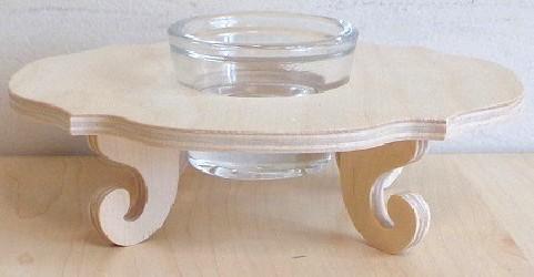 Žvakidė su stikliniu indeliu