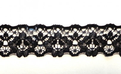 Lace trim Black (1 m)