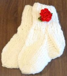 Kojinės vaikui (su raudona gėlyte)