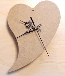 Laikrodis - širdis (iš MDF)