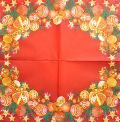 Servetėlė Kalėdos (raudonas fonas)