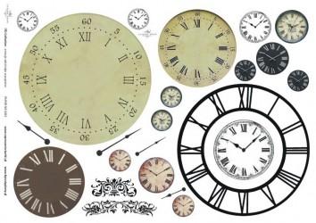 Dekupažinis popierius Laikrodis