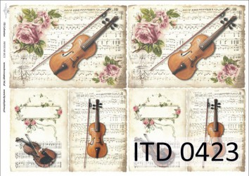 Dekupažinis popierius Muzika