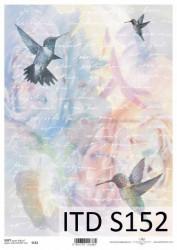 Dekupažinis popierius Kolibris