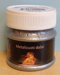 Metalizuoti dažai Sidabras (50 ml)