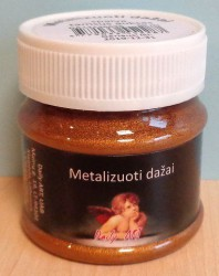 Metalizuoti dažai Tamsus auksas (50 ml)