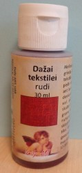Dažai tekstilei Rudi (30 ml)