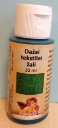 Dažai tekstilei Žali (30 ml)