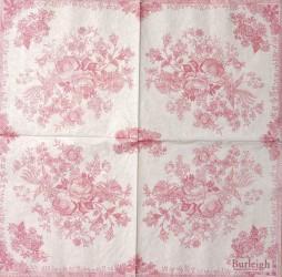 Servetėlė Gėlės (rožinės)