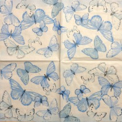 Servetėlė Drugeliai (mėlyni)