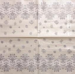 Servetėlė Ornamentai (pilkas)