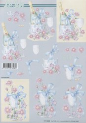 Paper for 3D decoupage (glass)