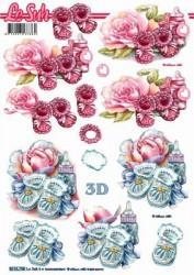 Popierius 3D dekupažui (batukai)