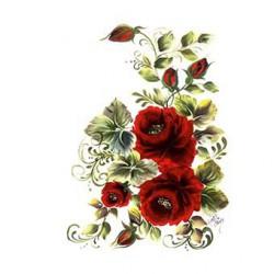 Popierius perkėlimui (rožės)