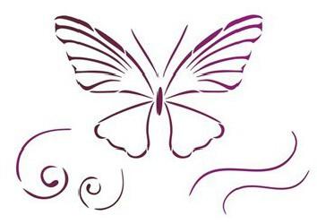 Trafaretas - drugelis