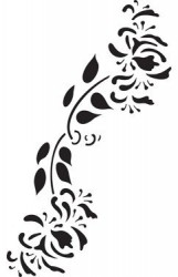Trafaretas - Gėlė
