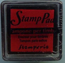 Stamp pad (red)