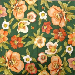 Servetėlė žalios gėlės