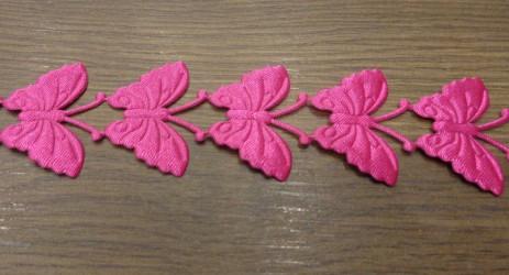 Juostelė Drugeliai Tamsiai rožiniai (20 cm)