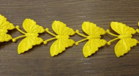 Stripe Butterflies Yellow (20 cm)