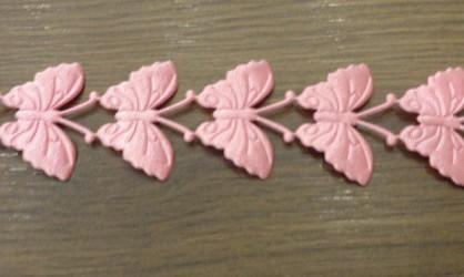 Juostelė Drugeliai Rožiniai (20 cm)
