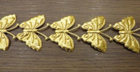 Stripe Butterflies Gold (20 cm)