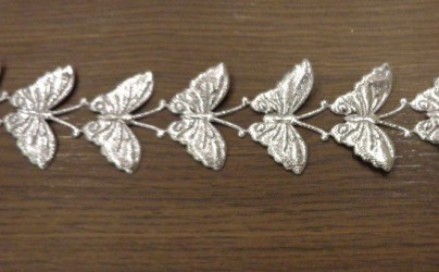 Juostelė Drugeliai Sidabriniai (20 cm)
