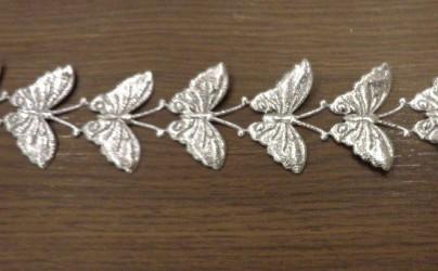 Stripe Butterflies Silver (20 cm)