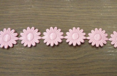 Stripe pink flowers (20 cm)