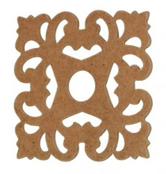 Ornamentas iš MDF (kvadratas)