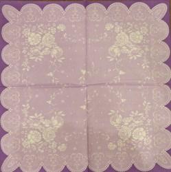 Servetėlė Gėlės violetinis fonas