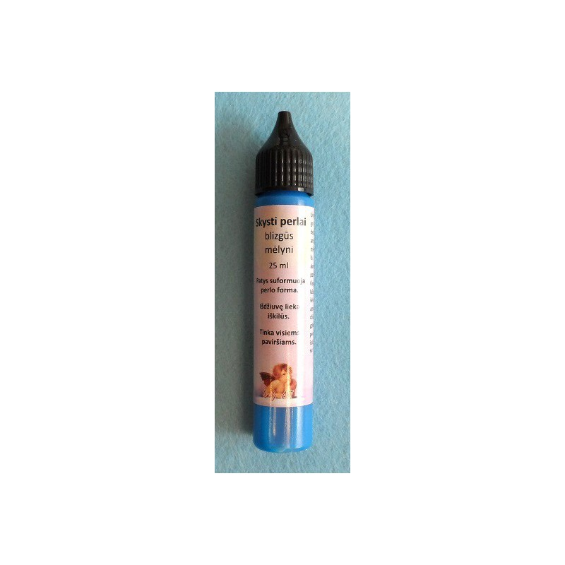 Skysti perlai blizgūs Mėlyni (25 ml)