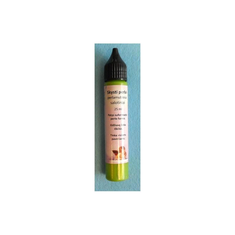 Skysti perlai perlamutriniai Salotinė (25 ml)