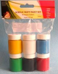 Rinkinys matiniai akriliniai dažai (6 x 25 ml)