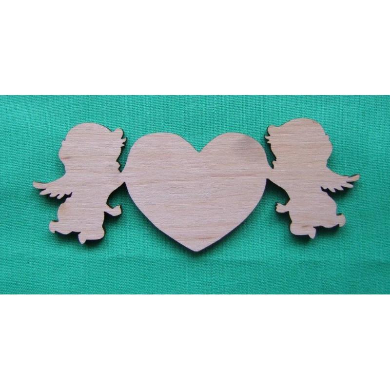 Angeliukai su širdele
