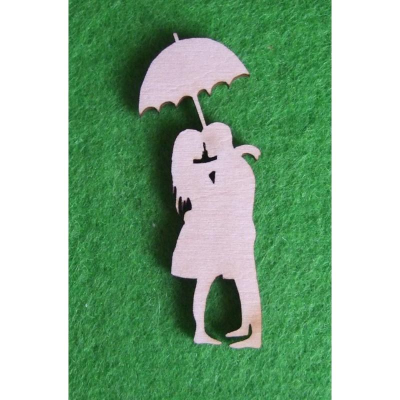 Porelė po skėčiu
