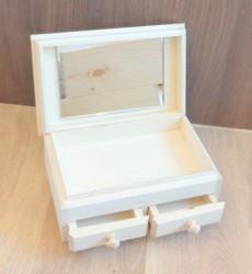 Dėžutė su veidrodžiu (2 stalčiai)