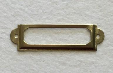 Label frame (gold)
