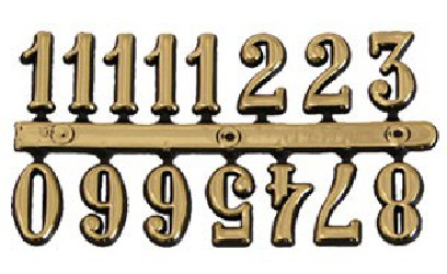 Clock numbers (gold)