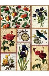 Ryžinis popierius (Gėlės)