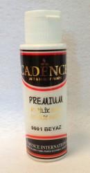 Matiniai akriliniai dažai spalva Balta (70 ml)