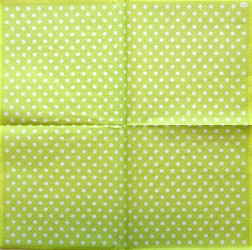 Napkin Dots Green