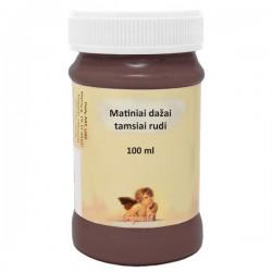 Matiniai akriliniai dažai Tamsiai ruda (100 ml)