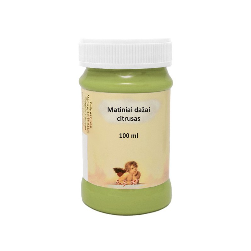 Matiniai akriliniai dažai Citrusas (100 ml)