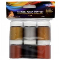 Rinkinys metalizuoti dažai - patina 6x25 ml.