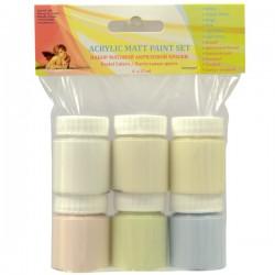 Matt aints pastel colors (6x25 ml)