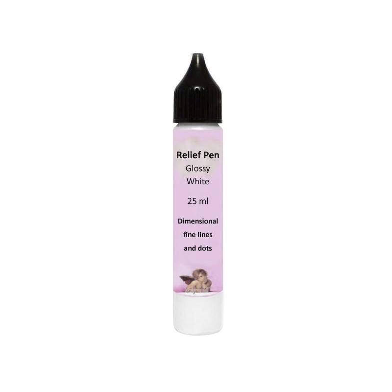Reljefinis kontūras Blizgus baltas (25 ml)
